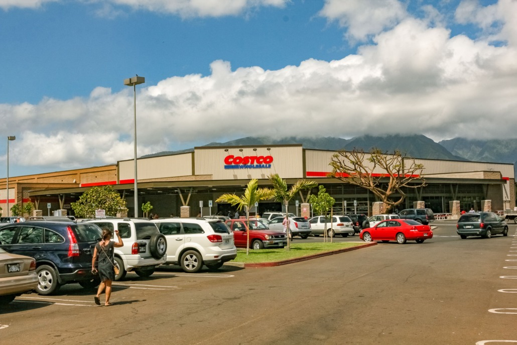 Costco Exterior Kahului Shopping Maui