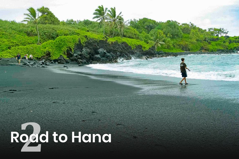 Hana Black Sand Beach Child Visitor Maui