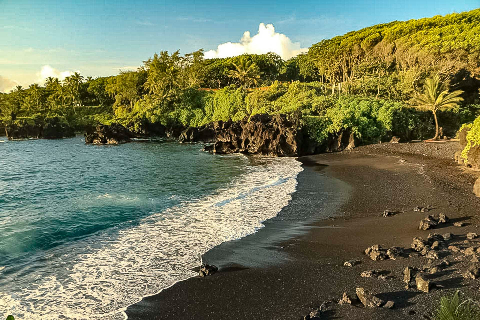 Maui Hana Black Sand Beach
