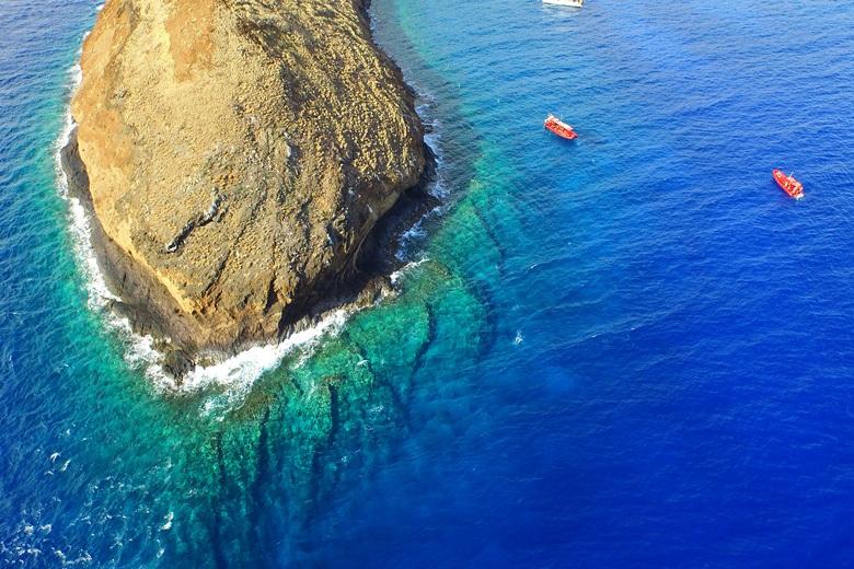 Molokini Reefs End Aerial