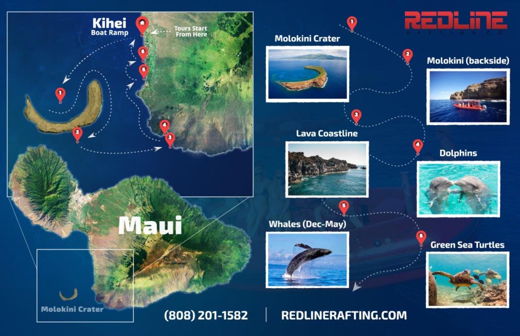 Molokini Tour Map